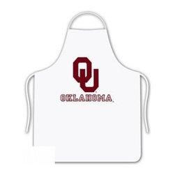 Sports Coverage - Oklahoma Sooners Tailgate Apron - Collegiate Oklahoma University Sooners White screen printed logo apron. Apron is 100% cotton twill with screenprinted logo. One Size fits all.