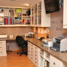 Transitional Home Office by Closet Factory - Cleveland