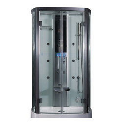 Ariel Platinum - Ariel Platinum DZ943F3 Steam Shower 47.2x33.5x88.6 - These fully loaded steam showers include massage jets, ceiling & handheld showerheads, chromotherapy, aromatherapy and built in radios to help maximize the therapeutic experience.