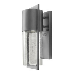 Hinkley Lighting - Hinkley Lighting 1320HE-LED Dwell Transitional Wall Sconce - Shelter's minimalist style creates a chic, dramatic statement as the light from above grazes through its clear seedy glass.