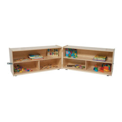 Wood Designs - Wood Designs 24H in. Folding Versatile Storage Unit - Natural Multicolor - WD125 - Shop for Childrens Toy Boxes and Storage from Hayneedle.com! About WDM Inc.For 30 years Wood Designs has put passion for the enrichment and safety of children into quality wooden early learning furniture. Dennis and Debbie Gosney the couple behind this labor of love have taken their 50 years combined experience in child development furniture manufacturing and built a company at the forefront of innovation and safety. Intuitive design coupled with novel safety features like Pinch-me-not hinges and Tip resistant furniture set Wood Designs apart from the typical early learning furniture manufacturers.