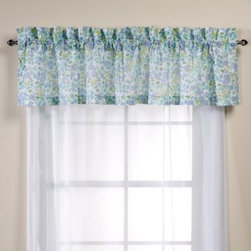 Laura Ashley - Laura Ashley Birds and Branches Window Valance - Outfit your bedroom in the sweet, natural style of the Birds and Branches quilt with this coordinating window valance.