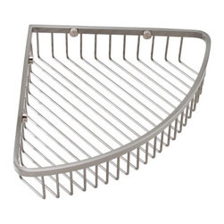 Classic Corner Shower Basket - Keep all of your bath necessities close at hand as well as organized with this space-saving Classic Corner Shower Basket. This shower basket easily installs in the corner of your shower and provides ample space for several products.
