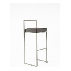 Control Brand - The Adrian Stool - The Adrian Stool is constructed of brushed steel and has an easy to clean poly urethane seat.