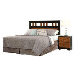 Standard Furniture - Standard Furniture Steel wood 2-Piece Panel Headboard Bedroom Set - 2 Piece panel Headboard bedroom Set belongs to Steel wood collection by Standard Furniture. Steel wood Features a traditional yet timeless look that is sure to engage your room with innovative style. Wood products with simulated wood grain laminates. Group may contain some plastic parts. French dovetail. Roller side drawer guides. Wood knob in black color finish. Vinza oak and Madison cherry color finish. Surfaces clean easily with a soft cloth.