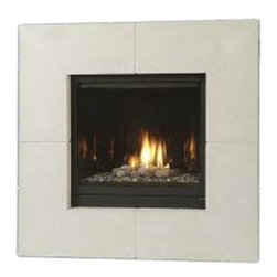 Majestic Products - Majestic 400DVBLNSC7 Solitaire Direct Vent Gas Fireplace - The Majestic 400DVBLNSC7 Solitaire Direct vent gas fireplace is part of Majestic's full line of products to complete your fireplace or stove. The Solitaire series from Majestic model 400DVBLNSC7 gives you a natural flame burner system with aluminized pan burner, custom style accessories to help you create a unique look for any room, and is ideal for creating your own beautiful fireplace for any application. This model features natural gas operation for easy installation, and it has a heating capacity of up to 1,150 square feet of room. Majestic has been serving in the production of quality fireplaces, stoves, log sets, and outdoor accessories for over 50 years, and offer a wide range of beautiful styles, sizes, and trims.