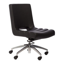 Matrix Oprah Adjustable Height Swivel Office Chair - Thick and chic is the theme for the Matrix Oprah Adjustable Height Swivel Office Chair, a modern office chair with adjustable height and a rocking motion for extra comfort. Featuring a leatherette tufted seat and a metal base with mobile-minded casters, this office chair will add style and convenience to your home office.About Matrix Imports:Located in the southwest region of Florida, Matrix Imports offers reliable and innovative modern furniture. The business-to-business company carries an impressive selection of dining and bar furniture, home office, as well as occasional and accessories. Matrix dictates the new trends by constantly innovating with sophisticated designs made with a high-quality standard that gives consumers more for their money.
