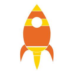 My Wonderful Walls - Rocket Ship Stencil for Painting - - Rocket ship stencil