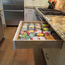 Storage and Access Solutions - That top drawer gives lots of room to lay out all the spices