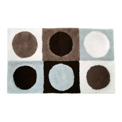 Park B. Smith Ultra Spa Magic Plush Boxes Bath Rug - Soft to the touch and oh so stylish, the Park B. Smith Ultra Spa Magic Plush Boxes Bath Rug is perfect in your master bath. With its multi-colored circles-in-boxes design, machine-washable, all-cotton construction, and non-skid back, this bath rug is just right.