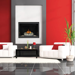 """Napoleon HD40 Series 41'' x 41'' DV Gas Fireplace System - Napoleon's popular 40"""" fireplace has a simple yet sophisticated design and provides every comfort a homeowner needs to create a relaxing environment. Contemporary or traditional decorative accessories are available to complement any decor making the HD40 High Definition Direct Vent Gas Fireplace perfect for any room in your home."""