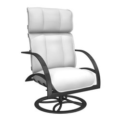 Homecrest - Homecrest Bellaire High Back Swivel Rocker Chat Chair - B9090-03-JASPER - Shop for Chairs and Sofas from Hayneedle.com! Short of putting your kids through college there really isn't much more support that the Homecrest Bellaire High Back Swivel Rocker Chat Chair could offer. From top to bottom this chair gives you all it can. The high back and roomy seat flanked by comfy arms is the perfect design for this smooth-moving fixture. It's equipped with an Alumaroc mechanism that provides an effortless swivel and an adjustable tension rock. The aluminum frame is naturally rust-resistant and covered in your choice of appealing powder-coat finishes. From the edge of the seat to the top of the high back you've got deep segmented cushions to provide support and comfort. Each cushions is covered in layered outdoor fabric that's designed for the elements and offered in your choice of appealing colors and styles.About Homecrest:The Homecrest brand was founded in 1953 as the offspring of a retail furniture shop in Wadena Minnesota when Mert Bottemiller and Al Engelmann set out to offer the market a better ottoman than those offered by their competitors. This venture soon led to their first line of patio furniture and in 1956 Bottemiller patented the swivel rocker mechanism that is still a central part of the products they produce today from their plant in Minnesota. For almost 60 years the Homecrest brand has been the go-to name for quality outdoor furniture when customers want a sophisticated versatile style that complements their interior decor and expands their lifestyles outside.