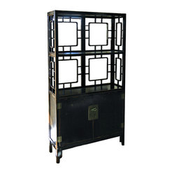 Chinese 2 Door/Shelf Cabinet