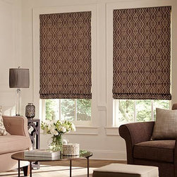 """Blinds.com Roman Shades - Classic Roman Shades. Whites and off-whites,Neutrals a - Classic Roman Shades - Buy with Confidence, Get Free Samples Today!The Classic Roman Shades from Blinds.com beautify your windows with the look of high-end custom workroom shades at an astounding price! These shades will allow you to dress up your room in almost any fashion or style you like — customize with a plethora of fabrics, textures and bold colors that all achieve a soft, stunning look for your home, from cotton to 100% silk. You can even style how your fabric folds! Choose between a flat fold (seamless), Plain Flat Fold (6"""" seams) or Soft Fold (hobbled) for the ultimate custom shade. Install Time: 10-12 minutesWe Recommend:"""