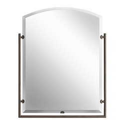Kichler - Kichler Structures Mirror - 41056OZ - This Mirror is part of the Structures Collection and has an Olde Bronze Finish. It is Damp Rated.