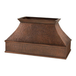 """54"""" L Tuscan Series Copper Island Range Hood - Hood Only - Add a designer look to your kitchen with the 54"""" Tuscan Series Copper Island Range Hood."""