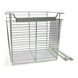John Louis - John Louis Basket Organizer - Get rid of the ugly,plastic bins and upgrade to these contemporary,wire storage baskets. These 20-inch-tall nickel wire baskets can replace your current laundry hamper,hold your little ones toys,or corral any clutter you may have around the home.