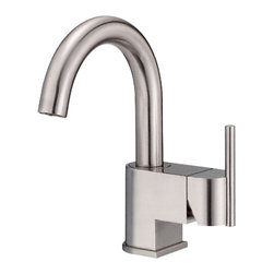 "Danze - Danze D221542BN Brushed Nickel Faucet Side Handle - Danze D221542BN Brushed Nickel Single Handle Lavatory Faucet is part of the Como Bath collection.  D221542BN Single hole mount lav faucet has a 5 1/2"" long and 8 1/2"" high swivel spout.  Includes metal touch down drain assembly.  D221542BN Single lever handle meets all requirements of ADA.  California and Vermont compliant. WaterSense Certified."