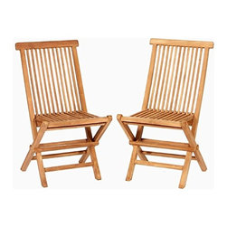 """Master Garden Products - Teak Foldable Chair, 18""""L x 16""""W x 36""""H - We use solid Indonesian plantation teak to build our line of teak foldable chairs. These chairs can be easily stored away during off season or when not in use."""