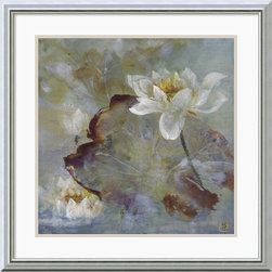 Amanti Art - Water Lily II Framed Print by Mei - Let this simple yet stunning Water Lily study by the painter Mei give your walls a contemporary flair.