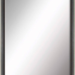 Paragon Decor - Beveled Mirror, Contemporary Slate and Gray, 24x36 - Mirror, Mirror, on the wall, who's the most beautiful mirror of them all? Reflect your impeccable taste with this contemporary-style mirror, which features a gorgeous simple slate and gray frame and high-quality interior beveled mirror. This piece measures 27 inches wide, 2 inches deep, and 39 inches high.