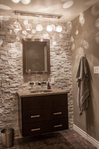 Modern Powder Room by Allen Interiors & Design Center Inc