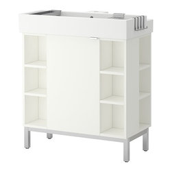 Inma Bermudez/IKEA of Sweden - LILLÅNGEN Sink cabinet/1 door/4 end units - Sink cabinet/1 door/4 end units, white