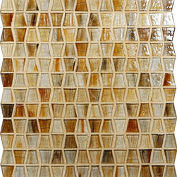 "Glass Tile Oasis - Sunny Glow Blend Wings Cream/Beige Pool Glossy Glass - Sheet size:  12"" x 12 5/8""     Tiles per sheet:  168     Tile thickness:  1/4""      Grout Joints:  1/8""     Recycled Components:   70%     Sheet Mount: Paper Face   Sold by the sheet    -  These glass tiles are each a one of a kind work of art. Each style features complimentary colors  shot through with transparent layers of contrasting colors. Mosaics are stacked together creating a unique repeating pattern.Waterfall tiles are hand-poured and will have a certain amount of variation and variegation of color  tone  shade and size. Additionally  you will notice creases  wrinkles  shivers  waves  bubbles topped off with a natural surface to catch all forms of light for a brilliant effect. These characteristics of natural glass and only serve to enhance the final beauty of the installation."