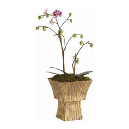 Arteriors - York Cachepot - Slip your plain flower pot into this vintage brass vessel and voilà! Its textured scalloped design displays plants or bouquets with the elegance they deserve.