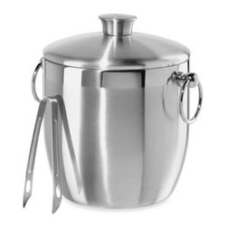 Oggi - Oggi Stainless Steel Double Wall Ice Bucket with Tongs - The perfect match for contemporary home décor, the Oggi Stainless Steel Double Wall Ice Bucket with Tongs is a great addition to any kitchen. With a 3-quart capacity, the steel ice bucket is an ideal size for home entertaining.