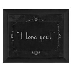The Artwork Factory - Silent Movie I Love You Framed Artwork - Ready-to-Hang, 100% Made in the USA, museum quality framed artwork