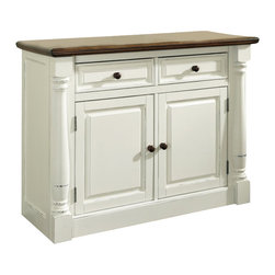 Home Styles - Home Styles Monarch Buffet in White and Oak Finish - Home Styles - Buffet Tables and Sideboards - 502061