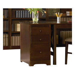 Atlantic Furniture - Atlantic Furniture 3 Drawer File Cabinet in Antique Walnut - Atlantic Furniture - Filing Cabinets - H80134 - Solid hardwood construction with dovetail joinery make the Three Drawer File Cabinet a reliable storage solution for supplies and important documents. The large lower drawer has built in hanging file carriers and runs on metal drawer guides.
