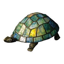 "Meyda Lighting - Meyda Lighting 10270 4""H Turtle Tiffany Glass Accent Lamp - Meyda Lighting 10270 4""H Turtle Tiffany Glass Accent Lamp"