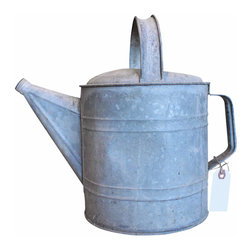 Zinc Watering Can - Galvanized watering can. In great condition. This piece would look great in the garden or on display. Fill it with wildflowers and put it out on the table for some farmhouse charm.