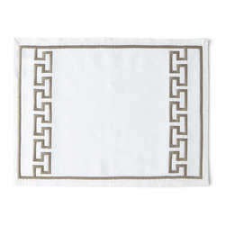 Jonathan Adler - Mykonos Gray Satin-Stitch Napkin - GREY - Jonathan AdlerMykonos Gray Satin-Stitch NapkinDesigner About Jonathan Adler:Potter designer and author Jonathan Adler launched his first ceramics collection in 1994. His design philosophy: create a foundation of timelessly chic furniture and accessorize with abandon. With his roots still firmly in pottery he has expanded to become a complete lifestyle brand offering furniture lighting decorative objects fashion accessories and more. He is dedicated to bringing style craft and joy to life.