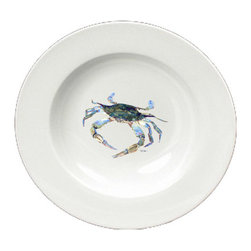 Caroline's Treasures - Blue Crab Looking at U Round Ceramic White Soup Bowl 8657-SBW-825 - Blue Crab Looking at U Round Ceramic White Soup Bowl 8657-SBW-825 Heavy Round Ceramic Soup Bisque Gumbo Bowl 8 3/4 inches. LEAD FREE, microwave and dishwasher safe. The bowl has been refired over 1600 degrees and the artwork will not fade or crack. The Artwork for this gift product and merchandise was created by Sylvia Corban copyright and all rights reserved.