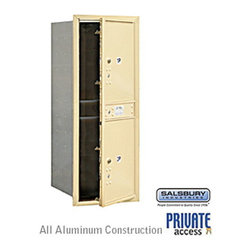 Salsbury Industries - 4C Horizontal Mailbox - 11 Door High Unit - Single Column - Stand-Alone Parcel L - 4C Horizontal Mailbox (Includes Master Commercial Locks) - 11 Door High Unit (41 Inches) - Single Column - Stand-Alone Parcel Locker - 2 PL5's - Sandstone - Front Loading - Private Access