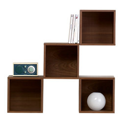 Skovby - Wall Cabinet, Walnut Veneer - Arrange your wall cabinetry just the way you want it. Collect as many of these clever cubes as you like, and transform any wall into a triumph of modern modular style and space-saving storage.