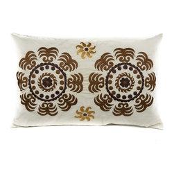 Suzani Pillows - Canvas Suzani (beige)
