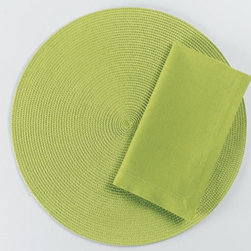 "Origin Crafts - Green hemstitch napkins set of 4 - Green Hemstitch Napkins Set of 4 Napkins & Placemats sold separately. Sets of four. 100% cotton. Machine wash cold separately; tumble dry low. Dimensions: Napkins - 20"" x 20"" By Tag Ltd. - Tag Ltd. is a supplier of decorative accessories. Ships out in 2-3 Business Days."