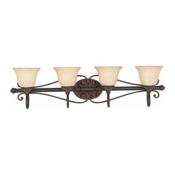 Triarch International - Triarch 25693 Jewelry Harvest Bronze 4 Light Vanity - Triarch 25693 Jewelry Harvest Bronze 4 Light Vanity