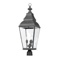 ELK Lighting - ELK Lighting 5217-C Bristol Charcoal Outdoor Post Light - ELK Lighting 5217-C Bristol Charcoal Outdoor Post Light