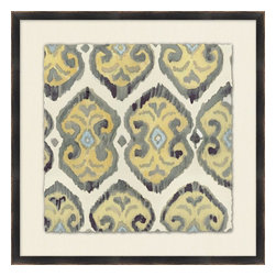 Wendover Art - Neutral Ikat 7 - This striking Giclee on Paper print adds subtle style to any space. A beautifully framed piece of art has a huge impact on a room for relatively low cost! Many designers and home owners select art first and plan decor around it or you can add artwork to your space as a finishing touch. This spectacular print really draws your eye and can create a focal point over a piece of furniture or above a mantel. In a large room or on a large wall, combine multiple works of art to in the same style or color range to create a cohesive and stylish space! This striking image is beautifully framed in matte black.