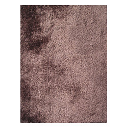 Rug - Solid Brown Shaggy Area Rug, Brown, 2 X 3 Ft, Solid, Hand-Tufted Area Rugs - Living Room Hand-tufted Shaggy Area Rug Door Mat
