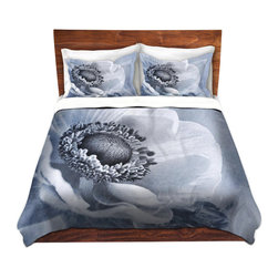 DiaNoche Designs - Duvet Cover Twill - Sophisticated - Lightweight and soft brushed twill Duvet Cover sizes Twin, Queen, King.  SHAMS NOT INCLUDED.  This duvet is designed to wash upon arrival for maximum softness.   Each duvet starts by looming the fabric and cutting to the size ordered.  The Image is printed and your Duvet Cover is meticulously sewn together with ties in each corner and a concealed zip closure.  All in the USA!!  Poly top with a Cotton Poly underside.  Dye Sublimation printing permanently adheres the ink to the material for long life and durability. Printed top, cream colored bottom, Machine Washable, Product may vary slightly from image.