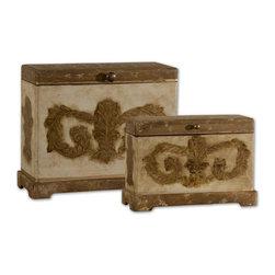 Uttermost - Uttermost Scotty Wood Boxes, Set/2 - 19319 - Uttermost Scotty Wood Boxes, Set/2 - 19319