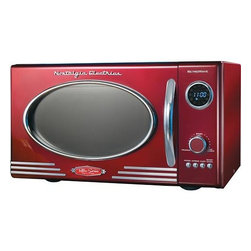 Nostalgia Electrics Retro Series 0.9-Cubic-Feet Compact Microwave, Red - I adore this red retro microwave. It will complete this lovely stand-alone kitchen in style.