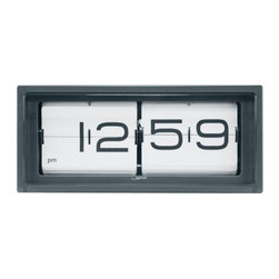 LEFF Amsterdam - Brick Desk Clock by LEFF Amsterdam - The LEFF Amsterdam Brick Desk Clock lives up to its name with its solid, rectangular form. This is a large, heavy-duty piece, designed by Erwin Termaat. It features a vintage-style flip clock mechanism inside a hand-welded stainless steel case that has been brushed by hand or powder-coated. It can be used either as a desk or wall clock. Less of the same, more of the different. That is the philosophy behind the modern clock designs created by LEFF Amsterdam. Founded by Arno Ruijzenaars and based in The Netherlands, LEFF reimagines the form and function of classic timepieces to tell time in new and bold ways. Once you have one of their clocks in your home, you'll definitely see how LEFF is more.
