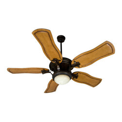 Craftmade - Amphora Peruvian Ceiling Fan with 54-Inch Custom Carved Constantina Pecan Blades - -Elegant and sophisticated, the Amphora fan adds beauty to any home.  -Heavy-Duty, 3 Speed Reversible Motor  -4 and 6 Downrods is included   -TCS Remote Control is included  or TCS-PLUS Wall Control is Sold Separately   -Dual Mount System, Standard with both Flushmount and Ball Hanger Mounting System is included   -Five blades included  -Blade pitch:14  -Motor size(MM):188x15  -Amps:0.56  -Watts:69  -RPM(Hi-Med-Lo):146-93-59  - Airflow (Cubic Ft/Min):5416 , Electricity US:69 Watts , Airflow Efficiency(Cubic Ft/Min/Watt):77  -This set contains Fan Model# AM54PR; Blade Model# B554C-CT1 Craftmade - K10279